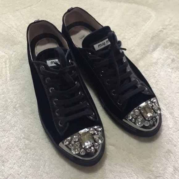Miu Miu Shoes   Miu Miu Black Velvet